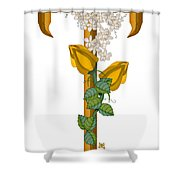T Is For Treasures In Time Shower Curtain