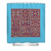 T J O D Mandala Series Puzzle 3 Variations 1-9 Shower Curtain