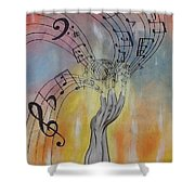 The Composer  Shower Curtain