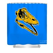 T-rex Graphic Shower Curtain by Pixel  Chimp