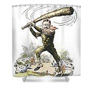 T. Roosevelt Cartoon, 1904 Shower Curtain