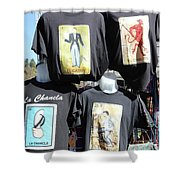 T Shirt Display Day Of Dead Shower Curtain