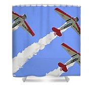 T6 Aerobatics Shower Curtain