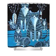 Tabby Family Shower Curtain