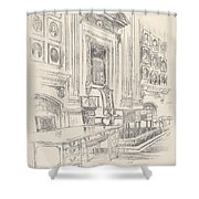 Table And Chair, Signers' Room, Independence Hall Shower Curtain