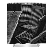 Table And Chairs Husavik Iceland 3767 Shower Curtain
