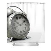 Table Clock Shower Curtain