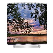 Table For Four With A View Shower Curtain by James BO  Insogna
