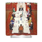 Table For Ten Shower Curtain