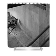 Table For Two Black And White Shower Curtain