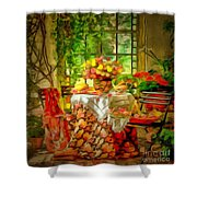 Table For Two In Ambiance Shower Curtain