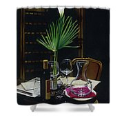 Table For Two A Night's Promise Shower Curtain