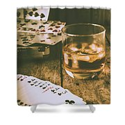Table Games And The Wild West Saloon  Shower Curtain