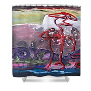 Table Land3 Shower Curtain