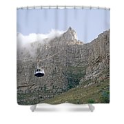 Table Mountain Cable Car Shower Curtain