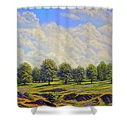 Table Mountain In Bloom Shower Curtain
