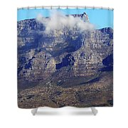 Table Mountain In The Clouds Shower Curtain