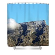 Table Mountain - Still Life With Blue Sky And One Cloud Shower Curtain