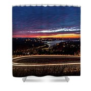 Table Rock Lake Night Shot Shower Curtain