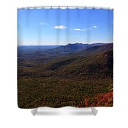 Table Rock Mountain From Caesars Head State Park In Upstate South Carolina Shower Curtain