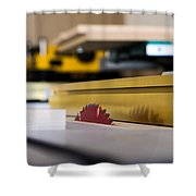 Table Saw Shower Curtain