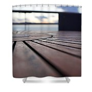 Table Texture Shower Curtain