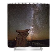 Table Top Milky Way Shower Curtain