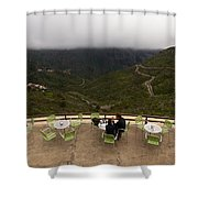 Table With A View  Shower Curtain