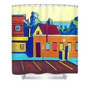 Taft Hill Road Shower Curtain