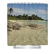 Tahiti Beach,bahamas. Shower Curtain