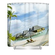 Tahiti, Bora Bora Shower Curtain by Kyle Rothenborg - Printscapes