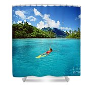 Tahiti, Bora Bora Shower Curtain