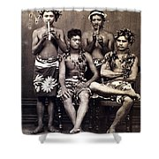 Tahiti: Men, C1890 Shower Curtain