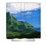 Tahiti, Moorea Shower Curtain by Vince Cavataio - Printscapes