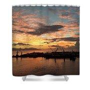 Tahiti Sunset Shower Curtain