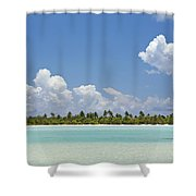 Tahitian Lagoon Shower Curtain