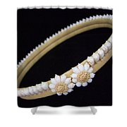 Tahitian Sea Shell Haku Shower Curtain