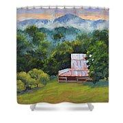 Tahlequah Ridge Morning Shower Curtain