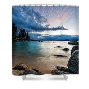 Tahoe Bursting Clouds Shower Curtain