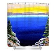 Tahoe Morning Shower Curtain