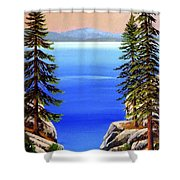 Tahoe Notch Shower Curtain