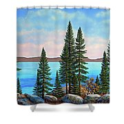 Tahoe Shore Shower Curtain