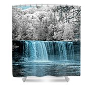 Tahquamenon Falls Ir 720nm Shower Curtain