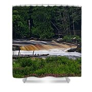 Tahquamenon Lower Falls Upper Peninsula Michigan 04 Shower Curtain