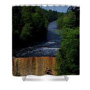 Tahquamenon Lower Falls Upper Peninsula Michigan Vertical 07 Shower Curtain