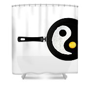 Taijitu Shower Curtain by Gert Lavsen