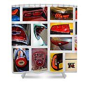 Tail Light Collage Number 1 Shower Curtain