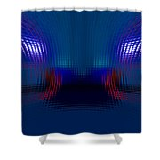Tail Lights In The Rain Shower Curtain