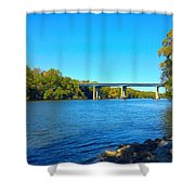 Tail Race Canal Shower Curtain