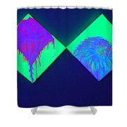 Tailed Flower And Kiwi Shower Curtain
